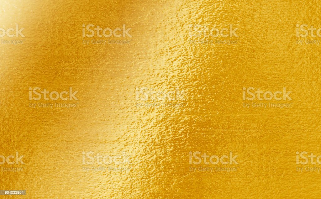 Shiny yellow leaf gold foil texture - Royalty-free Abstract Stock Photo