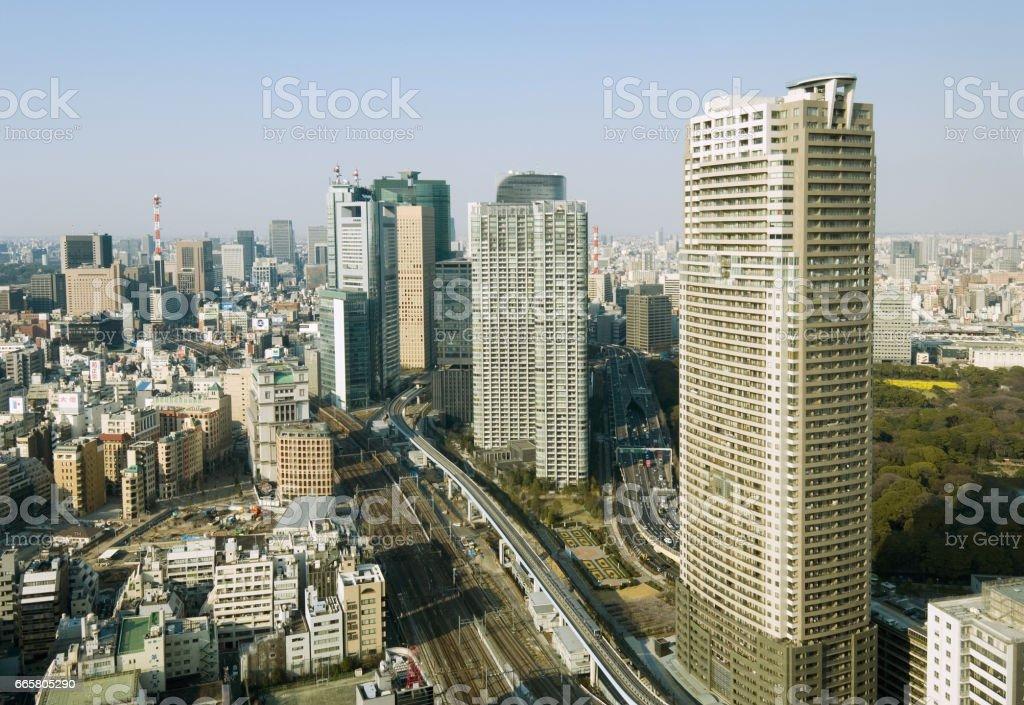 Shiodome stock photo
