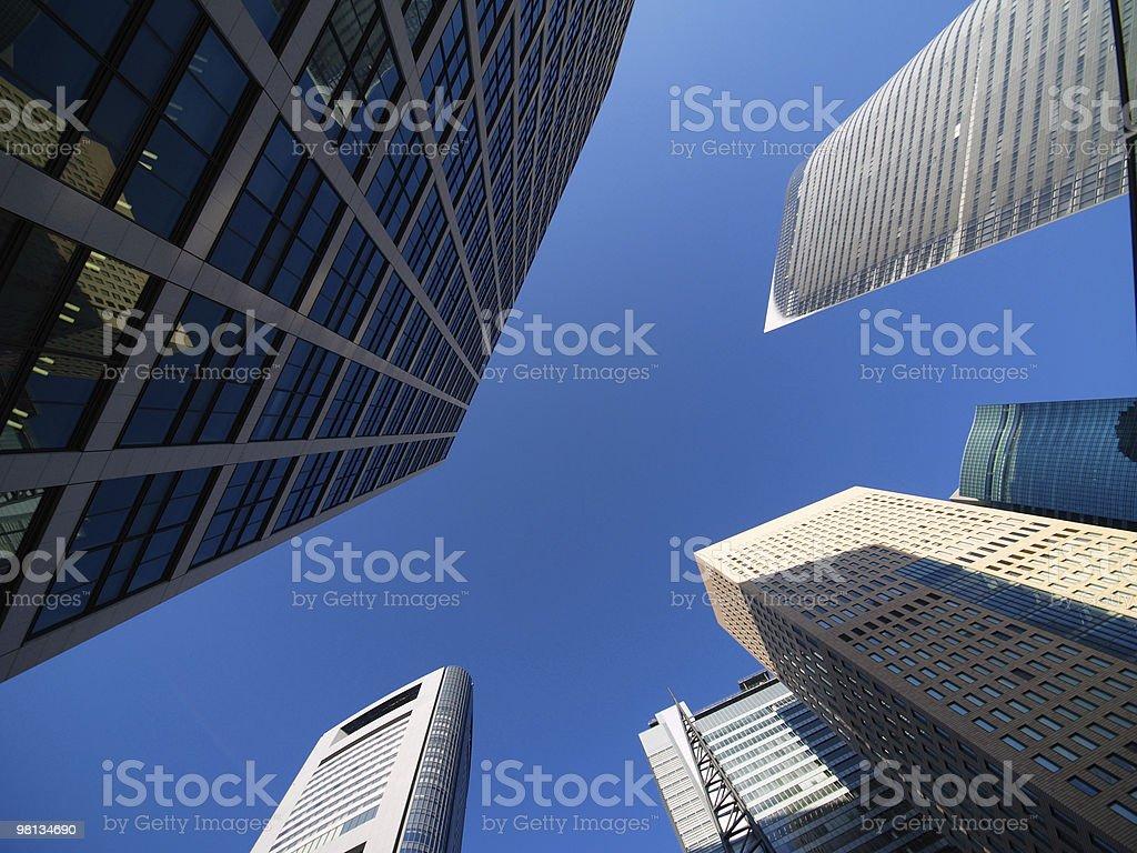 Shiodome's skyscrapers, Tokyo skyline royalty-free stock photo