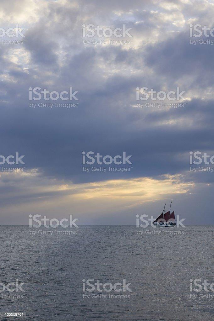 Ship at Sea royalty-free stock photo