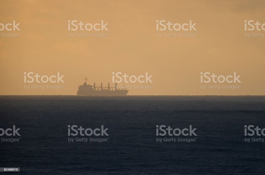 Ship at sea royalty-free stock photo