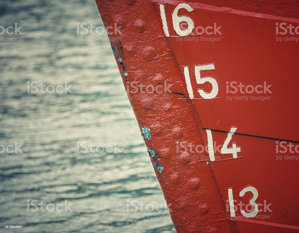 Ship bow stock photo
