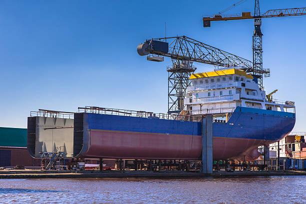 Ship building stock photo