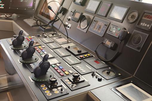 ship captain bridge, remote control