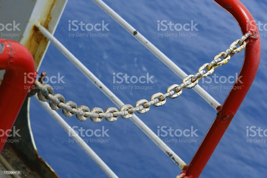 Ship Chains Restricted Area royalty-free stock photo