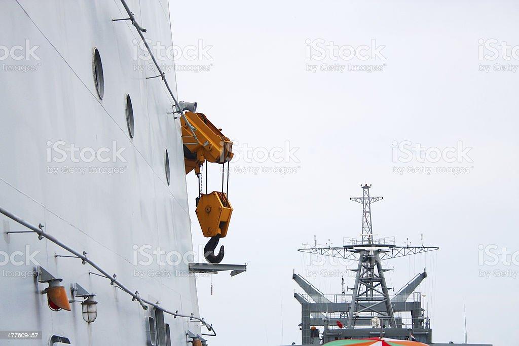 Ship crane royalty-free stock photo