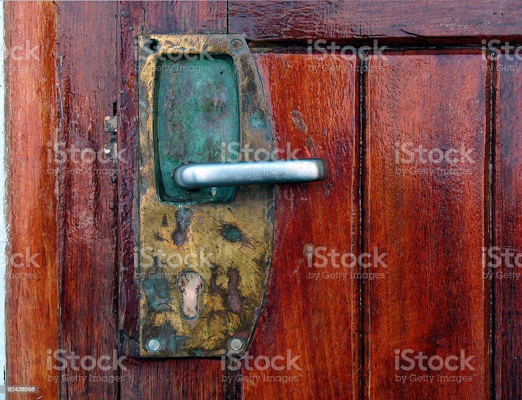 Ship Door Handle royalty-free stock photo