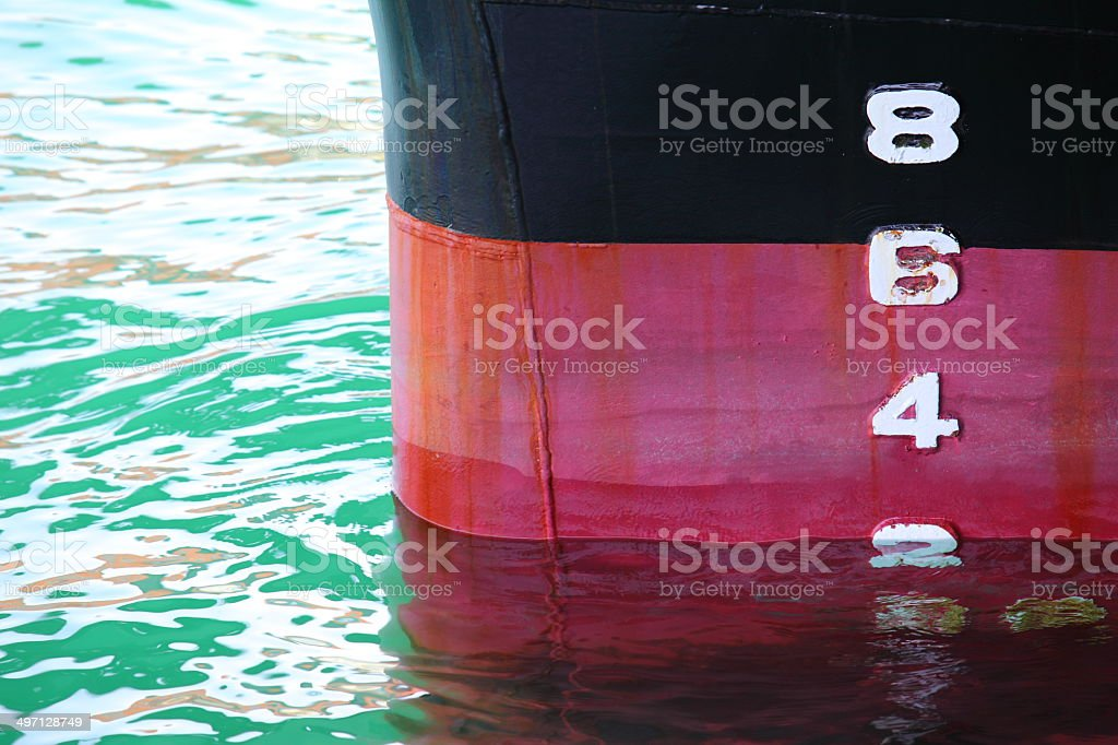 Ship Draught stock photo