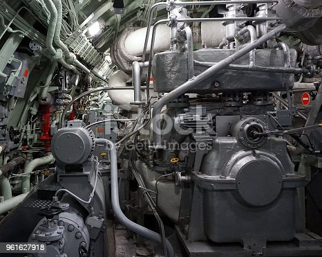 Part of a ship's engines.