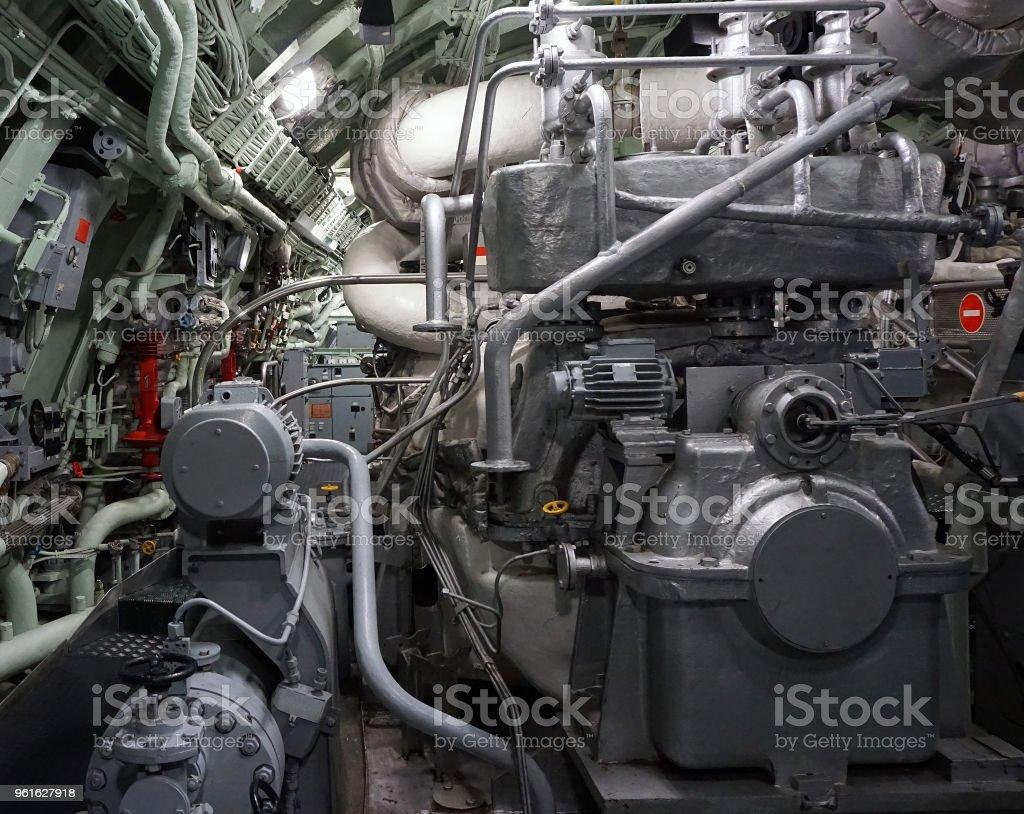 Ship engines. stock photo