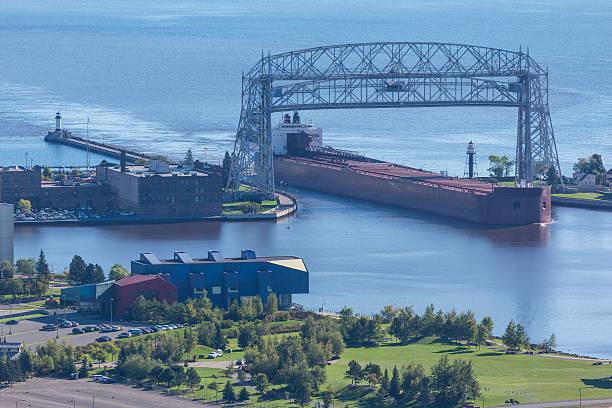 Ship Entering Harbor stock photo