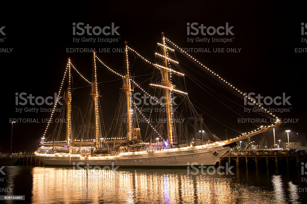 Ship Esmeralda at the New Zealand Navy's 75th Birthday celebrations stock photo