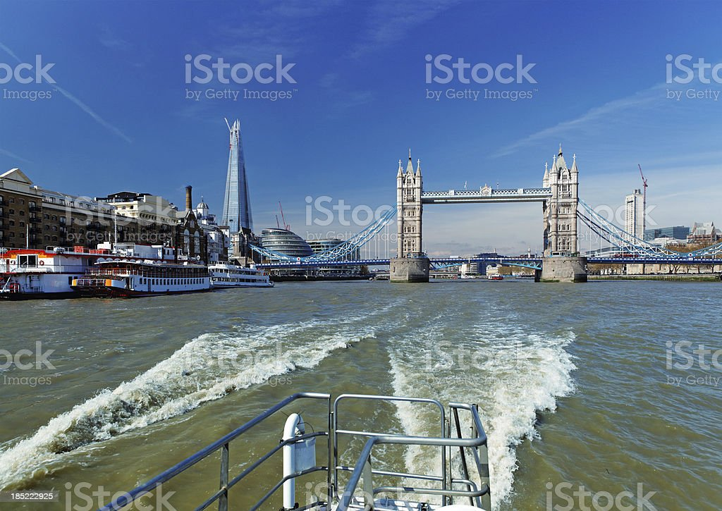 Ship excursion in London royalty-free stock photo