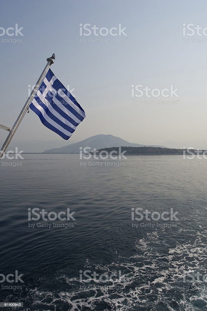 Ship flag royalty-free stock photo