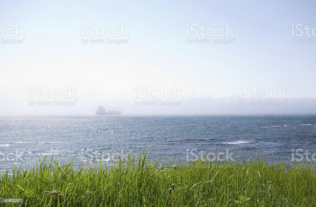 ship &  fog royalty-free stock photo