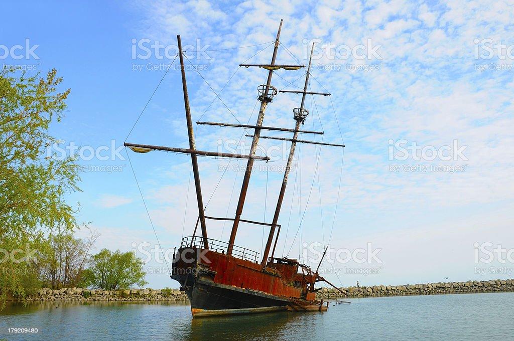 ship fogotten royalty-free stock photo