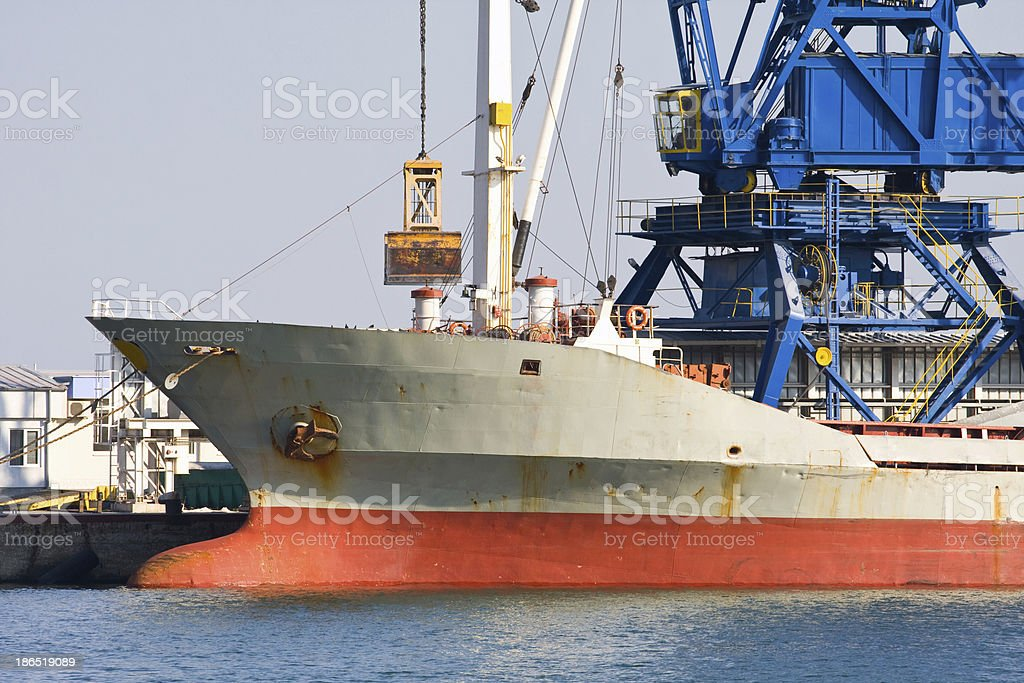 ship heading to a new port royalty-free stock photo
