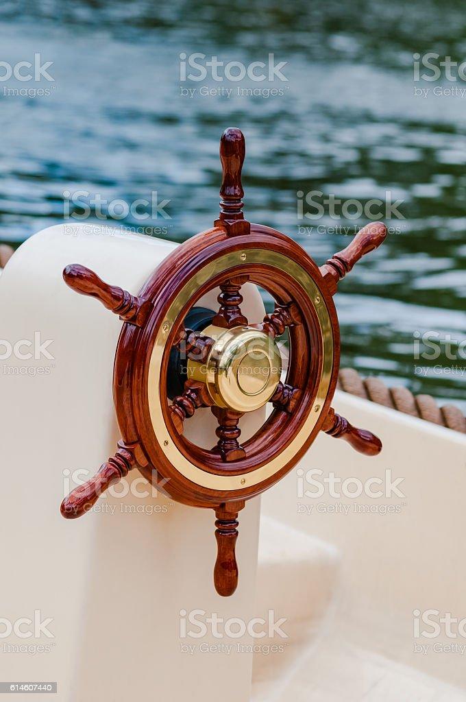 Ship help steering wheel boat yacht nautical equipment attractive - Photo