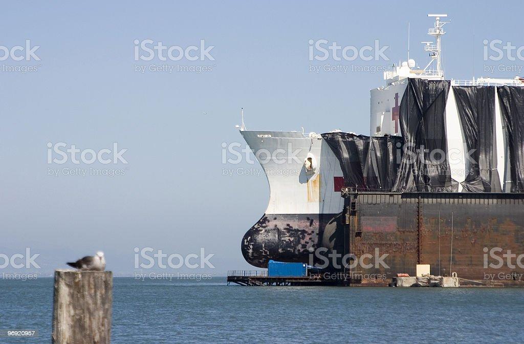 Ship in Drydock royalty-free stock photo