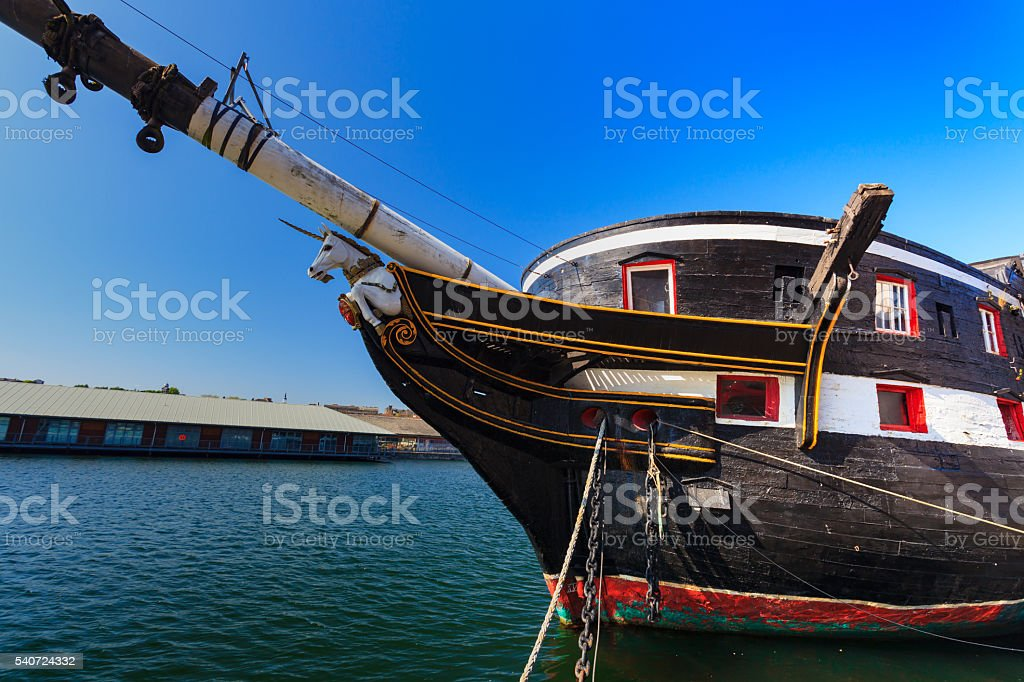 Ship in Dundee, Scotland. stock photo