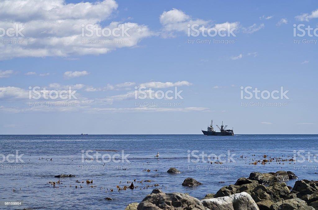 Ship in sea royalty-free stock photo
