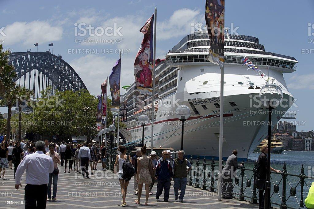 Ship in Sydney royalty-free stock photo
