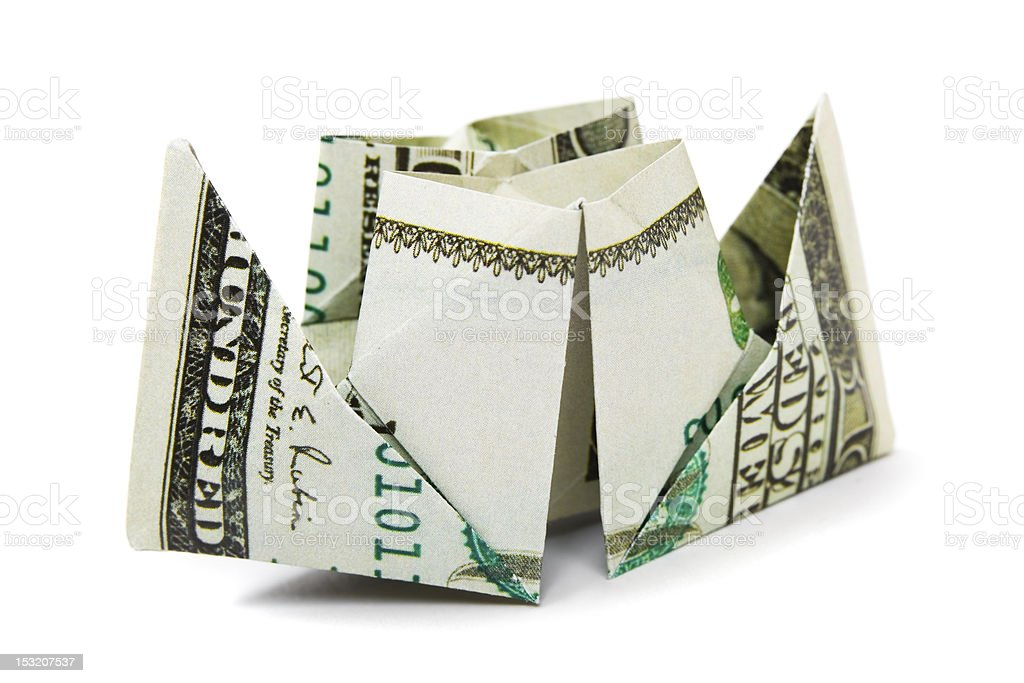Ship made of money royalty-free stock photo