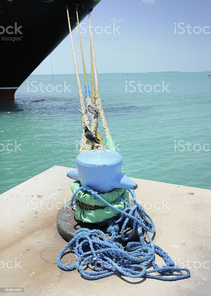 ship moored in harbour royalty-free stock photo
