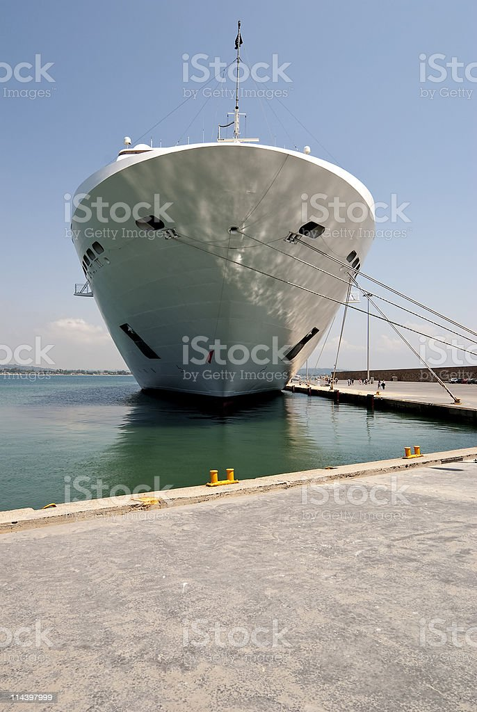 Ship moored royalty-free stock photo