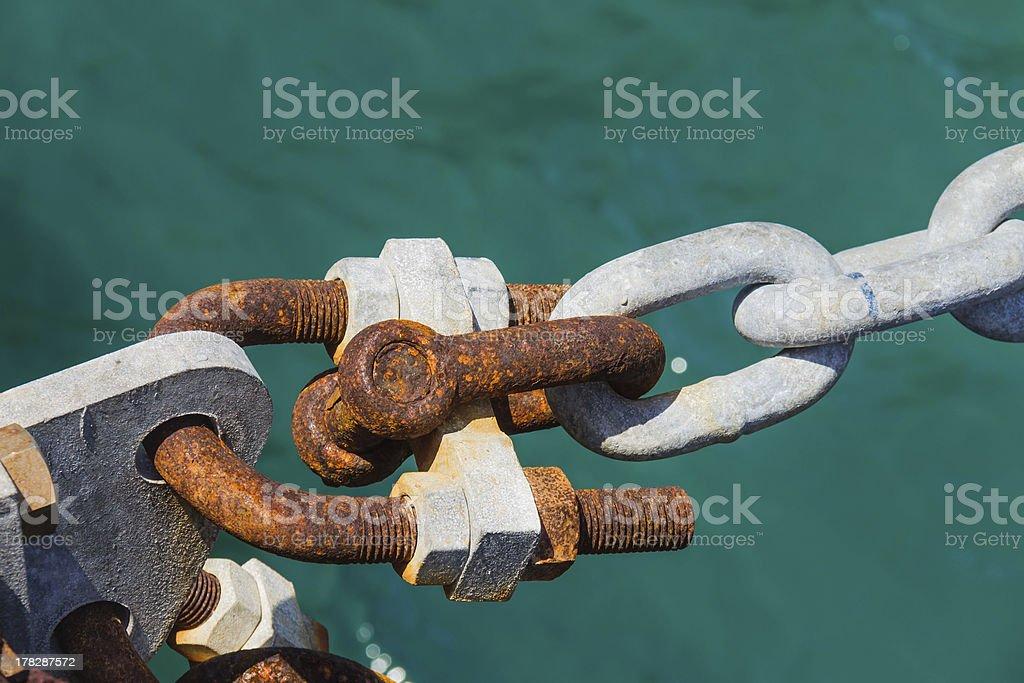 Ship mooring royalty-free stock photo
