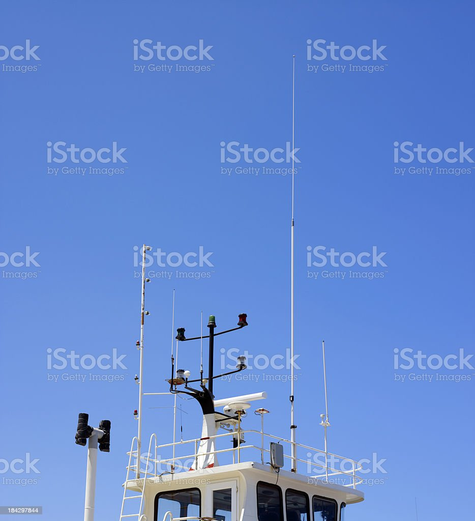 Ship navigation equipment royalty-free stock photo