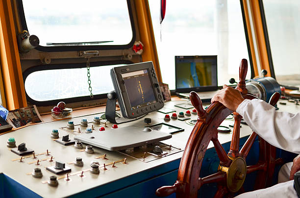 ship navigation - roeren stockfoto's en -beelden