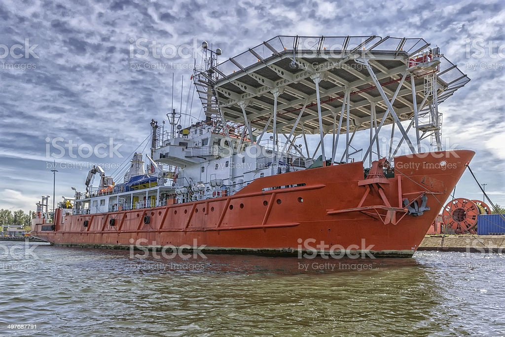 ship offshore stock photo