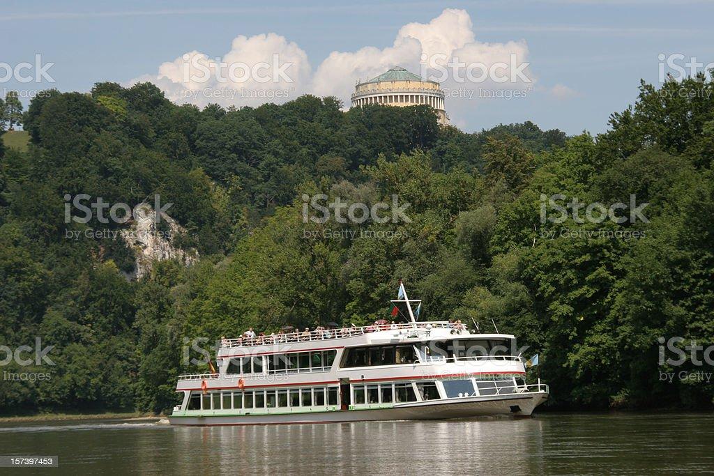 ship on danube river royalty-free stock photo