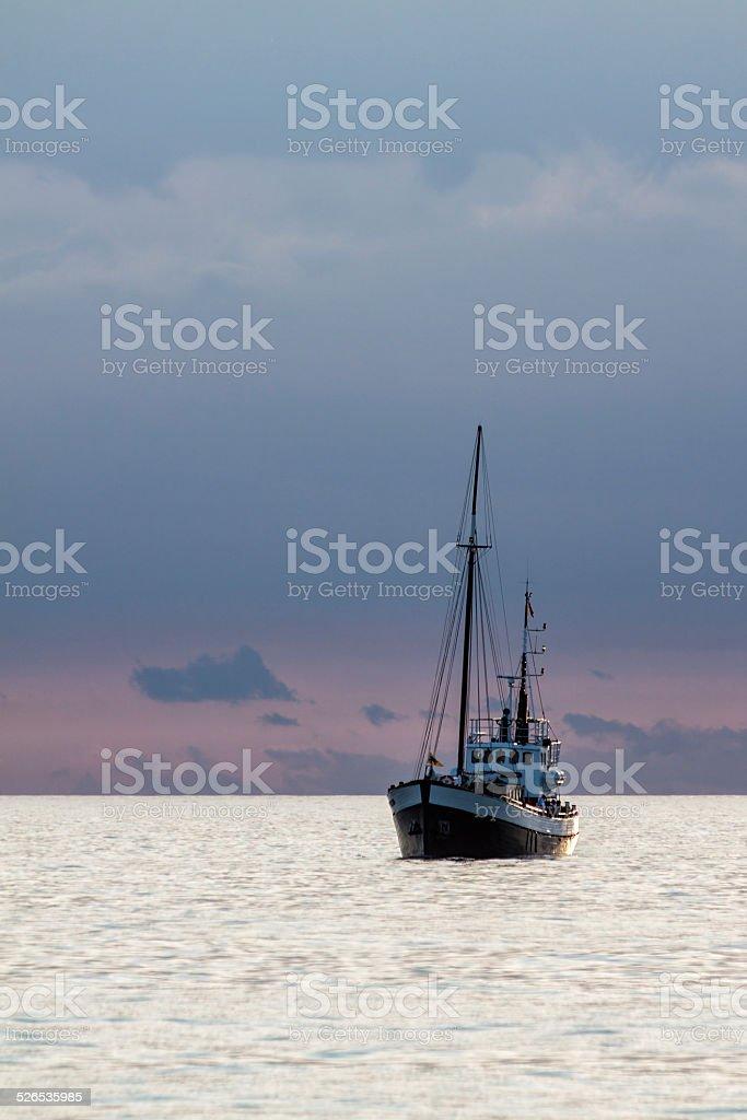Ship on the Baltic Sea stock photo