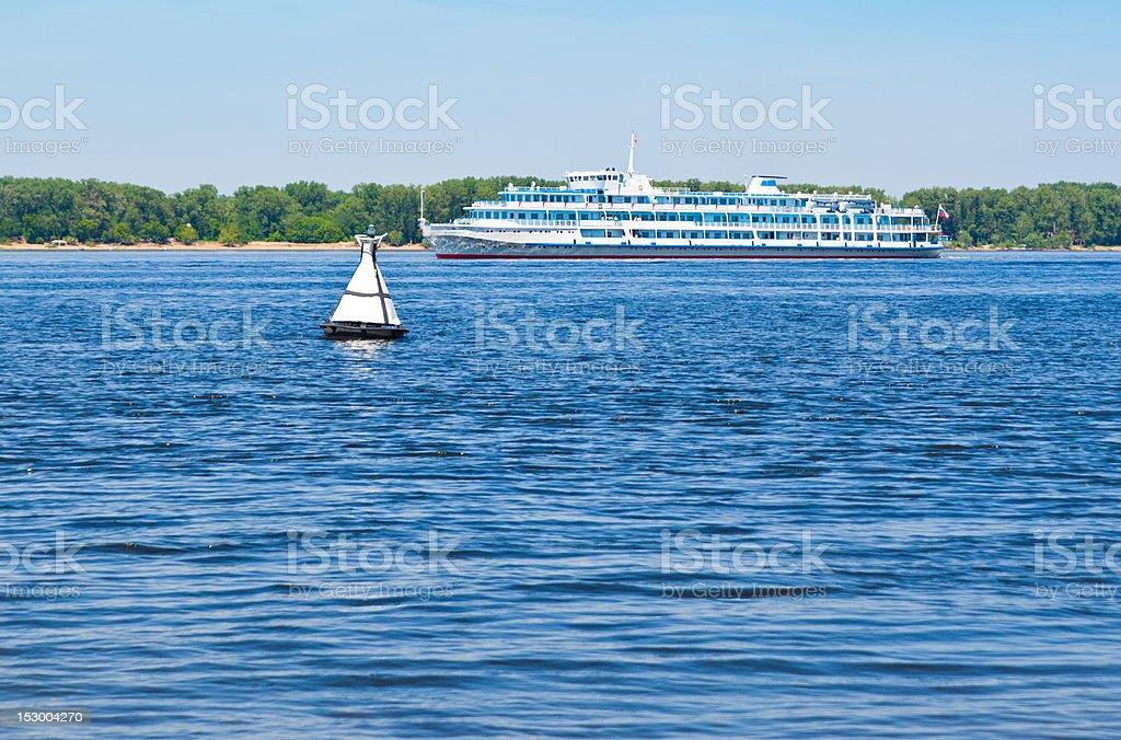 ship on the Volga stock photo