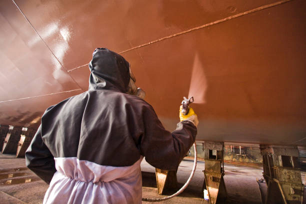 Ship painter stock photo