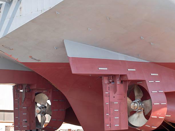 schiff - rudermaschine stock-fotos und bilder