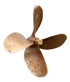 Brass Propeller isolated. MORE IMAGES...(you can see links to other categories via my main account page-About Me)
