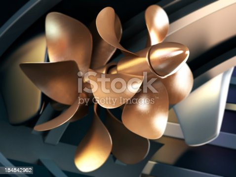 3D propeller of a yacht with DOF effect.Similar images: