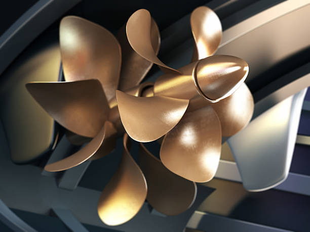 Ship propeller 3D propeller of a yacht with DOF effect.Similar images: propeller stock pictures, royalty-free photos & images