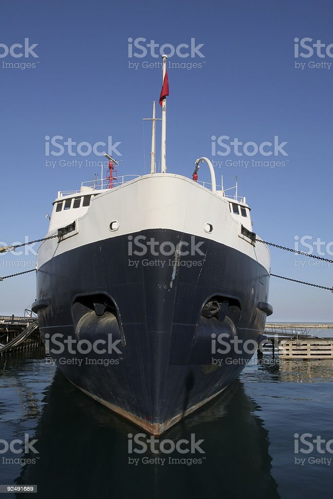Ship Prow in Chicago royalty-free stock photo