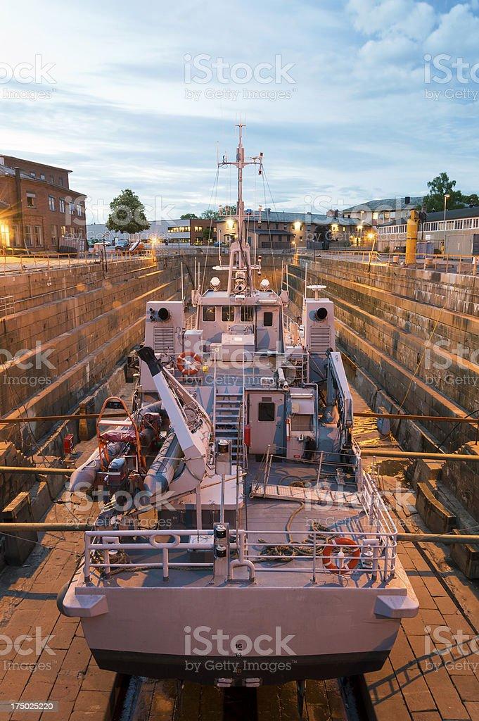 Ship repair in Dry Dock, Shipyard