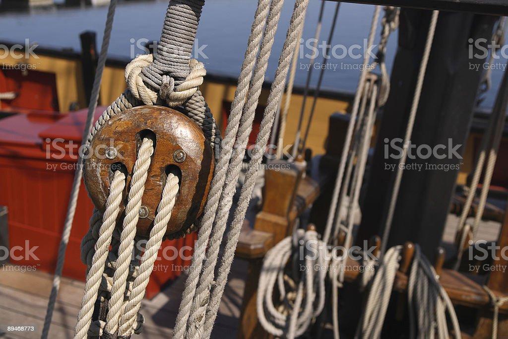 Ship rigging 2 royalty-free stock photo