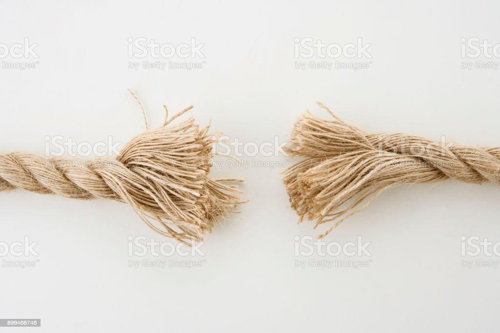 Ship rope isolated on white background stock photo