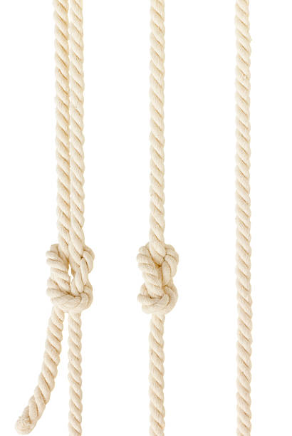 ship ropes with knot isolated ship ropes with knot isolatedon white background sailor stock pictures, royalty-free photos & images