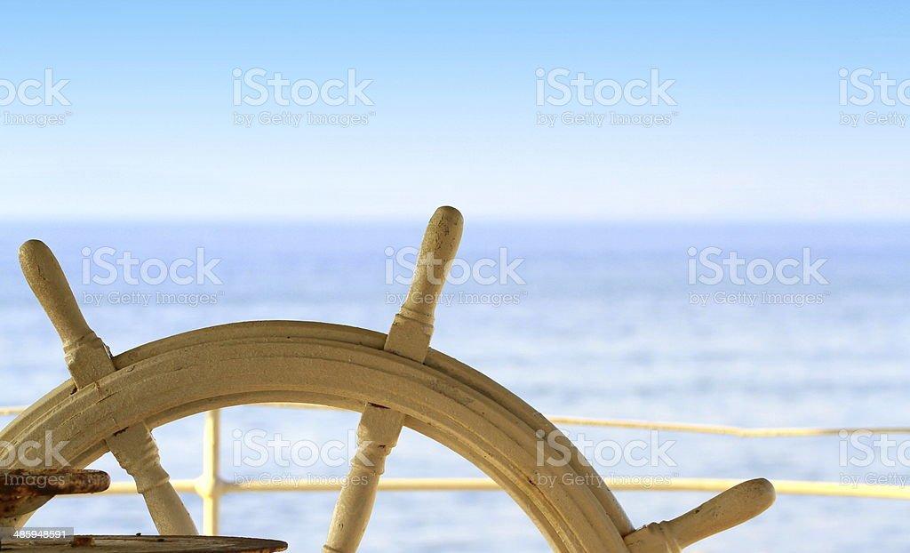 Ship Gouvernail de direction et la mer - Photo