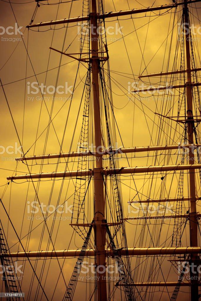 ship sail silhouette stock photo