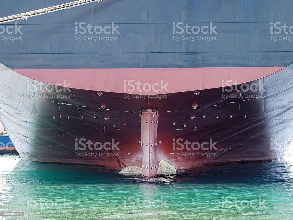 Ship stern stock photo