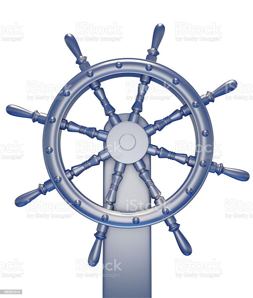 Ship wheel royalty-free stock photo